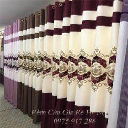 Mẫu rèm vải hoa văn mã 30